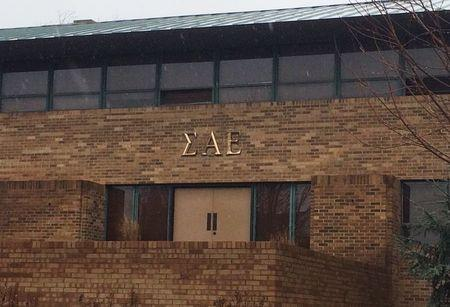 The Sigma Alpha Epsilon fraternity is seen at the University of Oklahoma in Norman