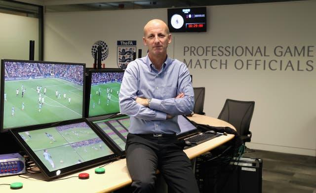 Mike Riley at the Premier League Video Assistant Referee hub