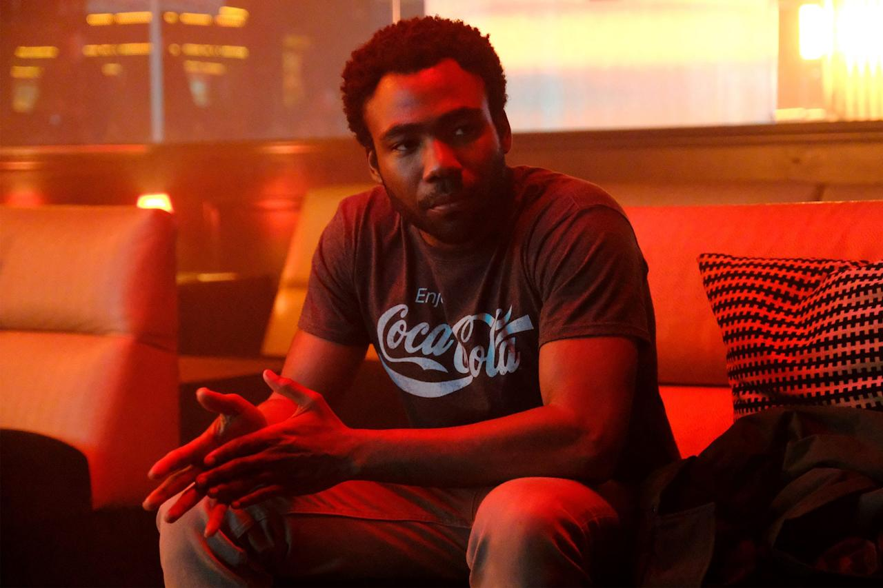 """<p>Calling <a href=""""http://ew.com/tag/donald-glover"""">Donald Glover</a>'s masterpiece a show about two cousins navigating the Atlanta hip-hop scene is like calling <a href=""""http://ew.com/creative-work/twin-peaks""""><em>Twin Peaks</em></a> a show about an FBI agent investigating a murder: it's technically true, but doesn't come close to capturing the show's Lynchian brilliance. (Yes, """"Lynchian"""" applies to both.) <a href=""""http://ew.com/creative-work/atlanta""""><em>Atlanta</em></a> blends social commentary, surreality, and relentless inventiveness to produce <a href=""""https://ew.com/tv/2019/12/05/best-tv-shows-of-the-decade/"""">one of the very best shows on TV</a>, which can go from a <a href=""""https://ew.com/tv/2018/05/01/atlanta-hiro-murai-teddy-perkins/"""">trapped-in-a-creepy-house thriller</a> to a trippy party at <a href=""""http://ew.com/tag/drake"""">Drake</a>'s house without batting an eye. <em>(<a href=""""https://click.linksynergy.com/fs-bin/click?id=KCxPE4hC**Q&offerid=763711.280&type=3&subid=0&u1=EWDarkComediesNHauangTAquilina0620"""">Streaming on Hulu</a>)</em></p>"""