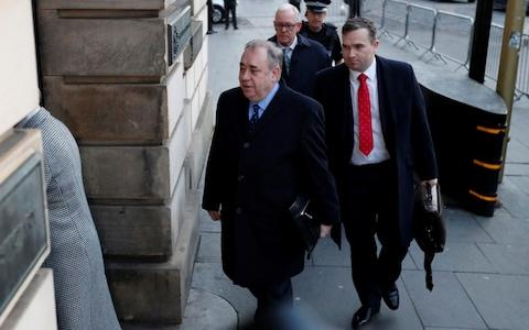Former First Minister of Scotland Alex Salmond arrives at the High Court in Edinburgh - Credit: Reuters