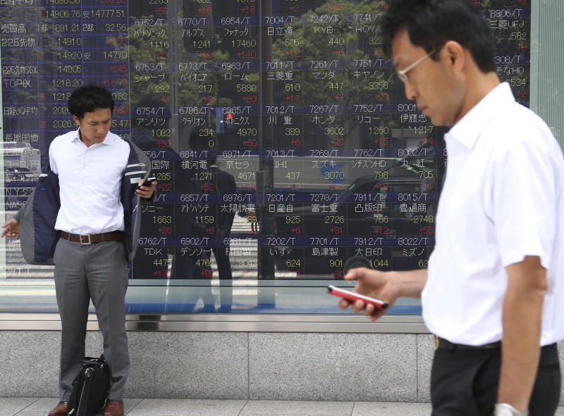 Asian stocks mostly higher after China data