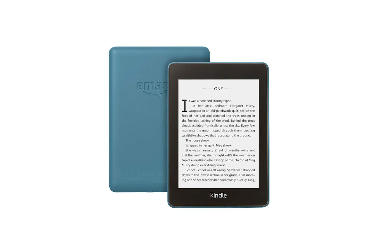 "$100, Amazon. <a href=""https://www.amazon.com/All-new-Kindle-Paperwhite-Waterproof-Storage/dp/B07CXG6C9W"">Get it now!</a>"