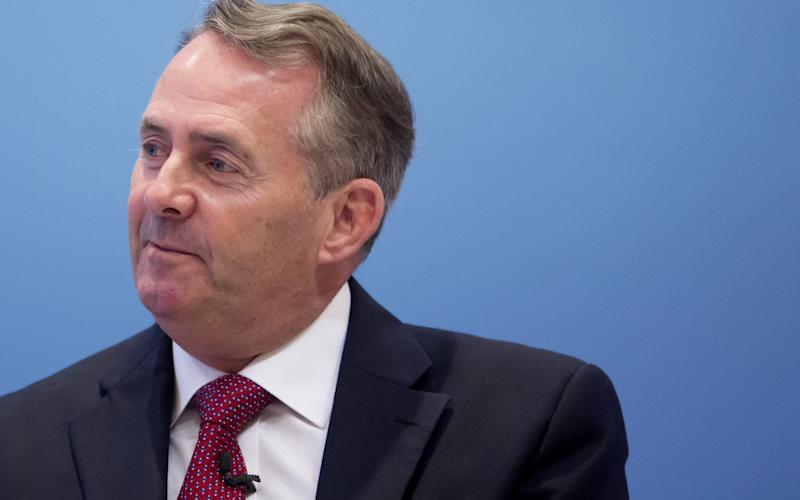 Liam Fox added that 'close co-operation between the UK and the US' was vital to international peace - Bloomberg