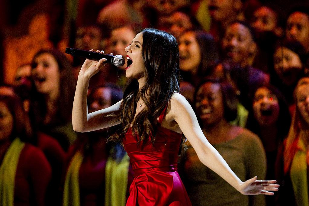 """Victoria Justice performs at TNT's """"Christmas in Washington."""""""