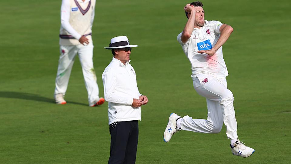 Craig Overton, pictured here in action for Somerset against Warwickshire.