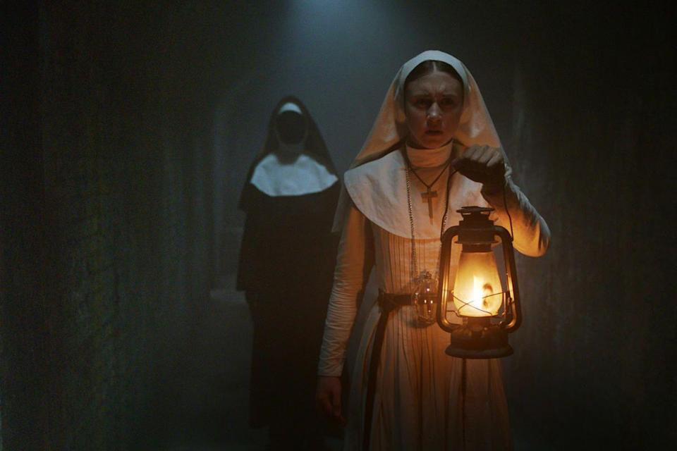 <p><strong>IMDb says: </strong>A priest with a haunted past and a novice on the threshold of her final vows are sent by the Vatican to investigate the death of a young nun in Romania and confront a malevolent force in the form of a demonic nun.</p><p><strong>We say:</strong> I thought nuns were meant to be all hymns and biscuits?</p><p><strong>Who's in it? </strong>Demián Bichir, Taissa Farmiga, Jonas Bloquet, Bonnie Aarons </p>