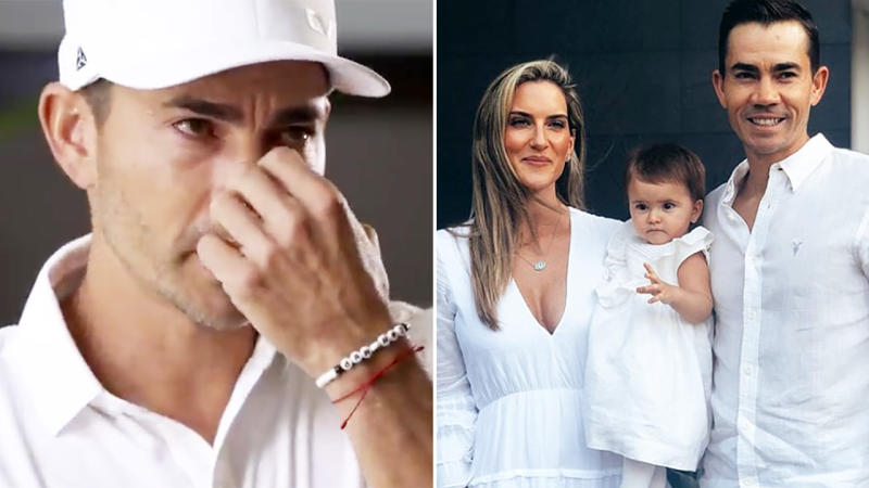 Camilo Villegas, pictured here discussing the death of baby daughter Mia.