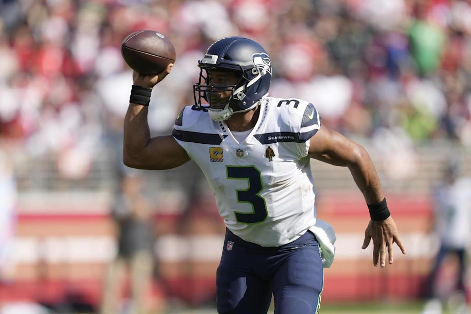 Seattle Seahawks quarterback Russell Wilson against the San Francisco 49ers.