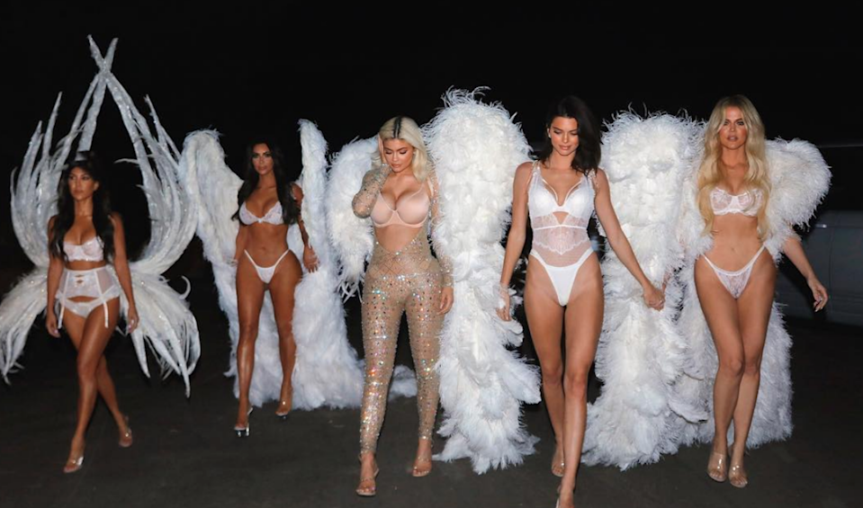Kendall taught her sisters some great Angels moves.