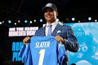 <p>Slater will be heading to Los Angeles to play offensive tackle for the Chargers.</p>