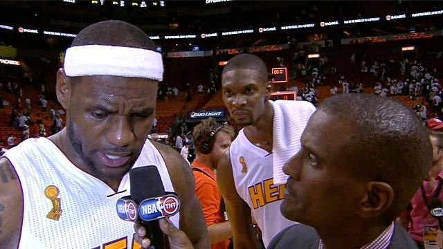 Chris Bosh postgame lurking bodes well for the Heat