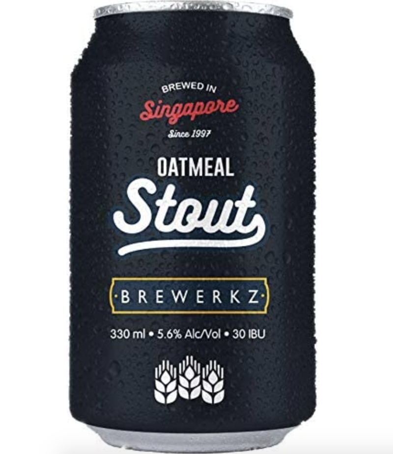 Brewerkz Oatmeal Stout, 330ml (Pack of 6), S$29.60 (was S$34.80). PHOTO: Amazon