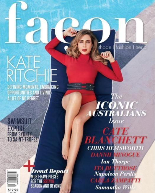 Kate Ritchie is ending the year on a high note, with a stunning magazine cover shoot rounding off her 2017. Source: Facon