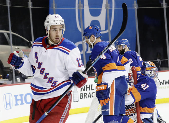 Kevin Hayes has seen his role on a rebuilding Rangers team grow as of late. (AP Photo/Frank Franklin II)