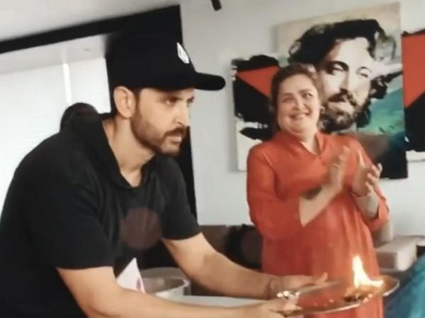 A still from the video shared by actor Hrithik Roshan (Image courtesy: Instagram)