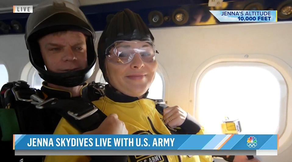Jenna Bush Hager skydives with the U.S. Army Golden Knights in honor of her grandfather, former President George H.W. Bush