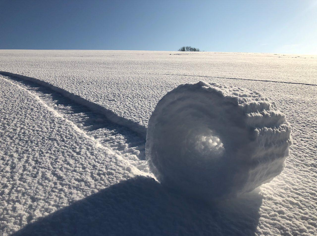 """Snow Rollers in Wiltshire"" by Brian Bayliss, which was second runner up (Picture: PA)"