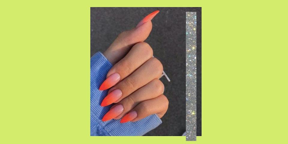 """<p>Neon is probably the most divisive colour family out there, isn't it? But there's no denying that it's a beaut trend – especially for summer 2021. </p><p>If you're not feeling bold enough to inject some brights into your wardrobe (baby steps, people), inject it into your nails instead with our edit of the most inspirational neon designs out there on Instagram, from some of the most talented artists.</p><p>Not only do we have every shade covered, from <a href=""""https://www.cosmopolitan.com/uk/beauty-hair/nails/g28685709/pink-nails/"""" rel=""""nofollow noopener"""" target=""""_blank"""" data-ylk=""""slk:pink nails"""" class=""""link rapid-noclick-resp"""">pink nails</a>, to green, orange, to yellow but we also have every style. We're talking flames, <a href=""""https://www.cosmopolitan.com/uk/beauty-hair/nails/g28604888/ombre-nails/"""" rel=""""nofollow noopener"""" target=""""_blank"""" data-ylk=""""slk:ombre nails"""" class=""""link rapid-noclick-resp"""">ombre nails</a>, minimalist neon dots, lightning bolts, we're talking custom Cardi B and Mega Thee Stallion WAP lyrics. You name it. we've got it.</p><p>We've also covered all the different <a href=""""https://www.cosmopolitan.com/uk/beauty-hair/nails/g10375351/nail-shapes-trends/"""" rel=""""nofollow noopener"""" target=""""_blank"""" data-ylk=""""slk:nail shapes"""" class=""""link rapid-noclick-resp"""">nail shapes</a> and lengths, so whether you're team natural, or team <a href=""""https://www.cosmopolitan.com/uk/beauty-hair/nails/a27029301/acrylic-nails/"""" rel=""""nofollow noopener"""" target=""""_blank"""" data-ylk=""""slk:acrylic nails"""" class=""""link rapid-noclick-resp"""">acrylic nails</a> there's something for you. because we know not everyone can handle the struggles that comes with a coffin nail. </p><p>If you've a bit hesitant about having nails brighter than the actual sun, you could try <a href=""""https://www.instagram.com/nailsbymh/"""" rel=""""nofollow noopener"""" target=""""_blank"""" data-ylk=""""slk:Michelle Humphrey's"""" class=""""link rapid-noclick-resp"""">Michelle Humphrey's</a> technique and use a dotting tool to add a spot """