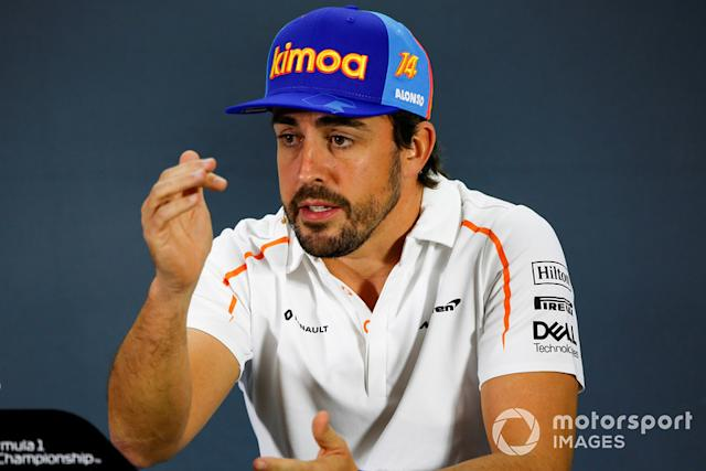 """Fernando Alonso (2018) <span class=""""copyright"""">Andy Hone / Motorsport Images</span>"""