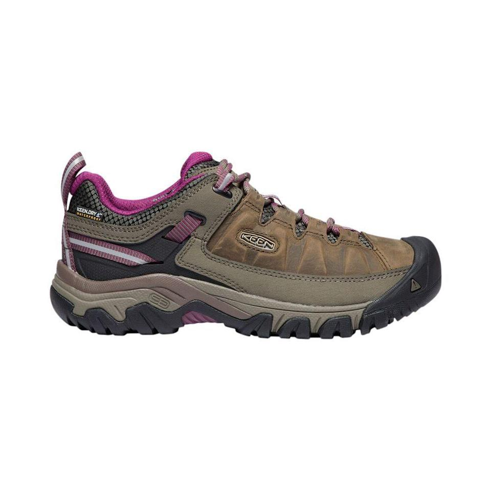 """<p><strong>KEEN</strong></p><p>rei.com</p><p><strong>$139.95</strong></p><p><a href=""""https://go.redirectingat.com?id=74968X1596630&url=https%3A%2F%2Fwww.rei.com%2Fproduct%2F119904&sref=https%3A%2F%2Fwww.prevention.com%2Ffitness%2Fworkout-clothes-gear%2Fg35229014%2Ffitness-awards-2021%2F"""" rel=""""nofollow noopener"""" target=""""_blank"""" data-ylk=""""slk:Shop Now"""" class=""""link rapid-noclick-resp"""">Shop Now</a></p><p>The large toe boxes in these hikers let toes spread out without hitting the fronts of the shoes or causing painful rubbing, says Ami Sheth, D.P.M. (That's important when going up and down on trails.) Messy terrain is no problem thanks to the waterproof and mud-resistant design.</p>"""
