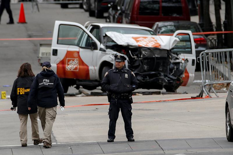 Despite intensified efforts, vehicular terrorist attacks such as the one in New York City on Oct. 31, 2017, remain hard to thwart. (Brendan McDermid / Reuters)