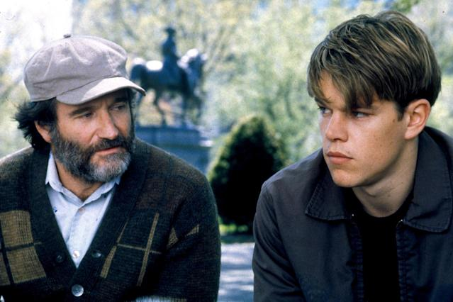 "<p><a href=""http://www.instyle.com/celebrity/matt-damon"" rel=""nofollow noopener"" target=""_blank"" data-ylk=""slk:Matt Damon"" class=""link rapid-noclick-resp"">Matt Damon</a> is a math whiz from Southie trying to figure out his life and realize his potential with the help of his therapist (<a href=""http://www.instyle.com/celebrity/robin-williams"" rel=""nofollow noopener"" target=""_blank"" data-ylk=""slk:Robin Williams"" class=""link rapid-noclick-resp"">Robin Williams</a>)</p>"