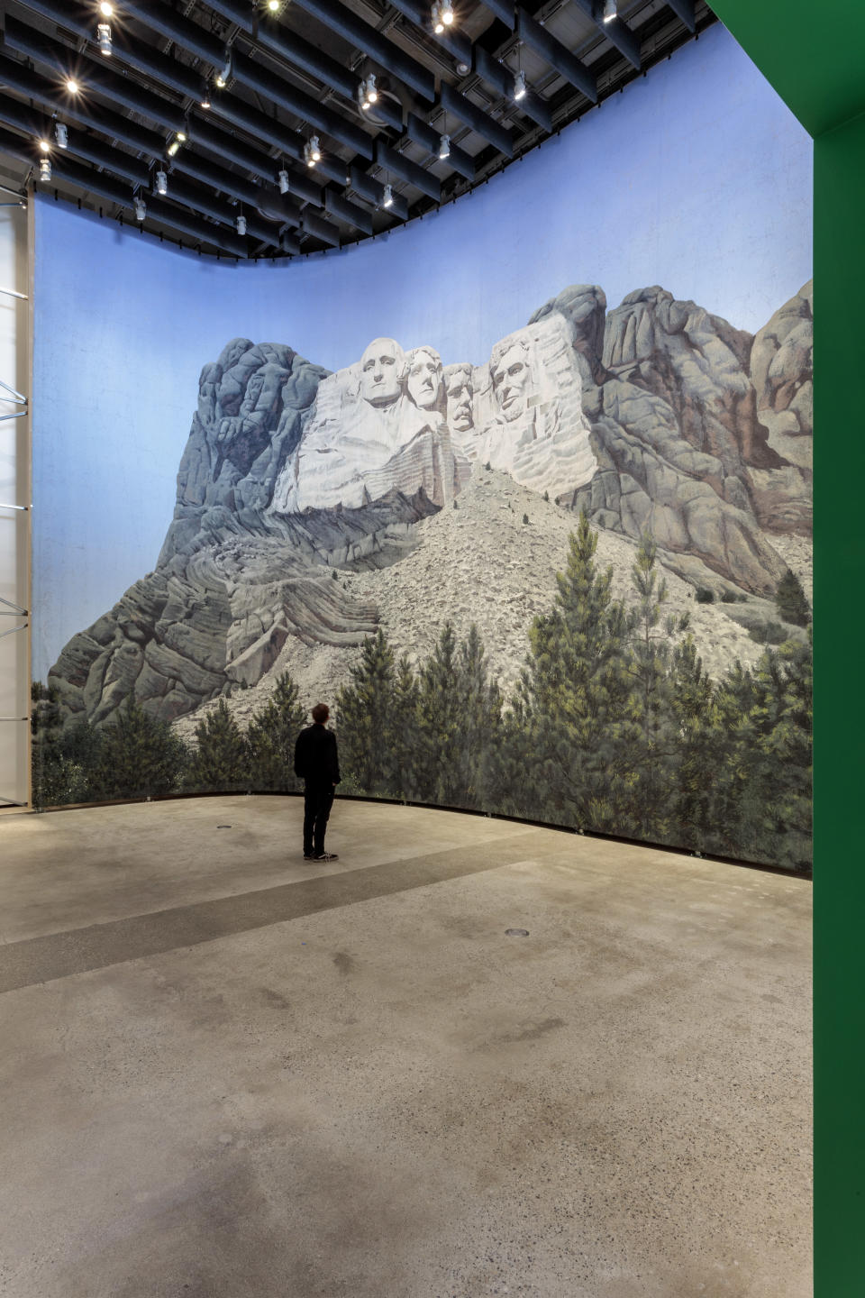 """The matte painting of Mount Rushmore used in """"North By Northwest"""" - Credit: Joshua White"""
