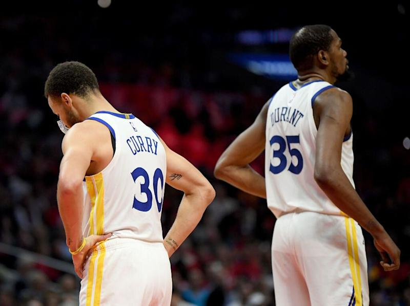 e4f05568e5f Will Stephen Curry and Kevin Durant go their separate ways this summer   (Getty Images