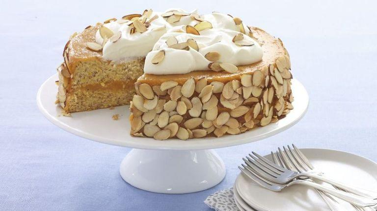 """<p>Combining sweet apricot and crunchy, toasty almonds, this recipe might not be your typical birthday cake, but it's a good one all the same. </p><p><a href=""""https://www.womansday.com/food-recipes/food-drinks/recipes/a53989/almond-apricot-cake-recipe/"""" rel=""""nofollow noopener"""" target=""""_blank"""" data-ylk=""""slk:Get the Almond Apricot Cake recipe."""" class=""""link rapid-noclick-resp""""><em><strong>Get the Almond Apricot Cake recipe.</strong></em></a> </p>"""