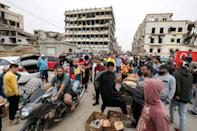 A Benghazi market pictured in April during the Muslim holy fasting month of Ramadan. Libya's years of turmoil have compounded economic woes, sending prices higher and leading to wage delays for public sector workers