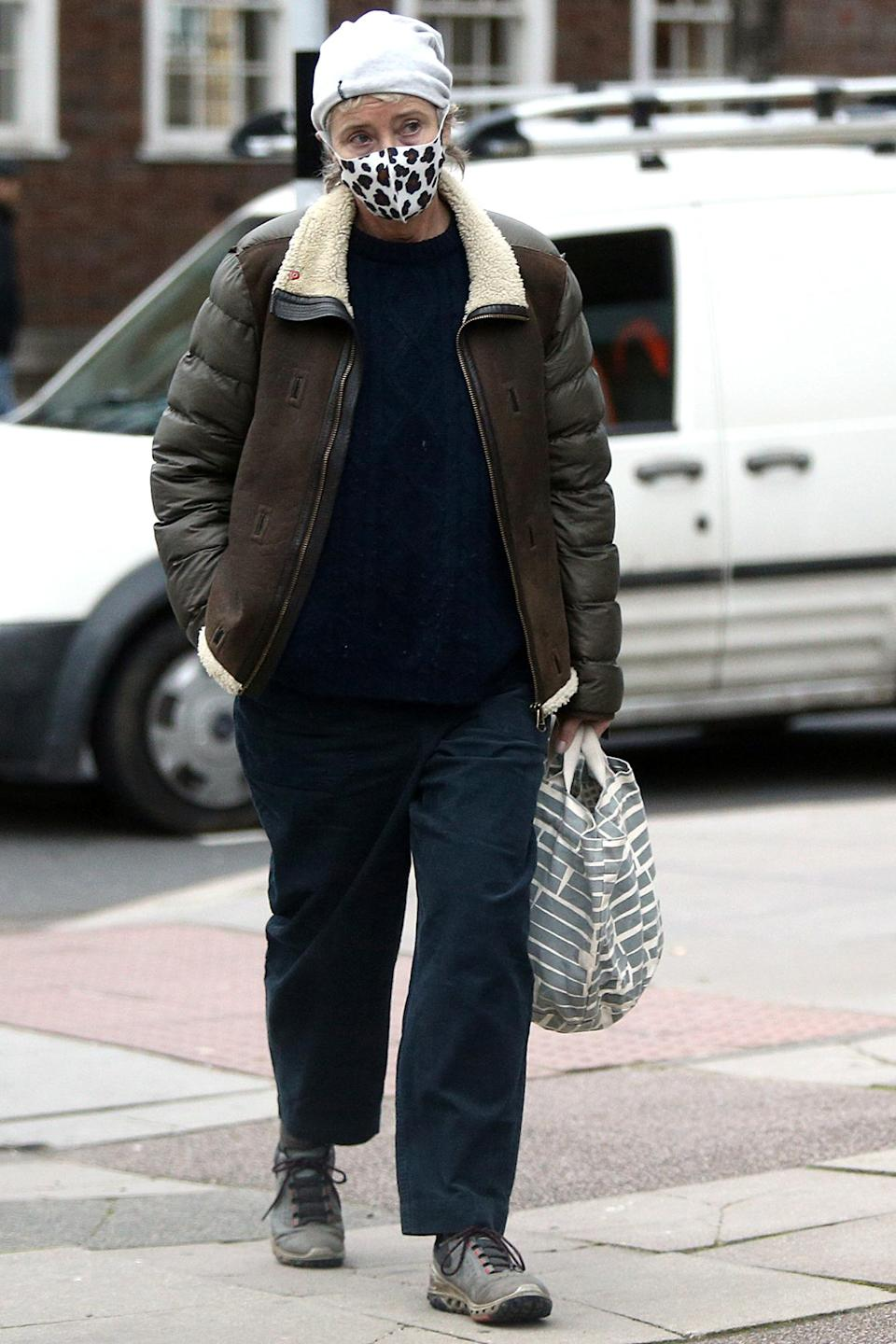 <p>Emma Thompson was spotted out and about in London.</p>