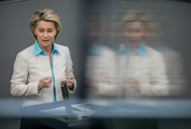 Von der Leyen weathered a scandal over far-right extremists within the army as she juggled Germany's delicate relationship with military affairs (AFP Photo/Michael Kappeler)