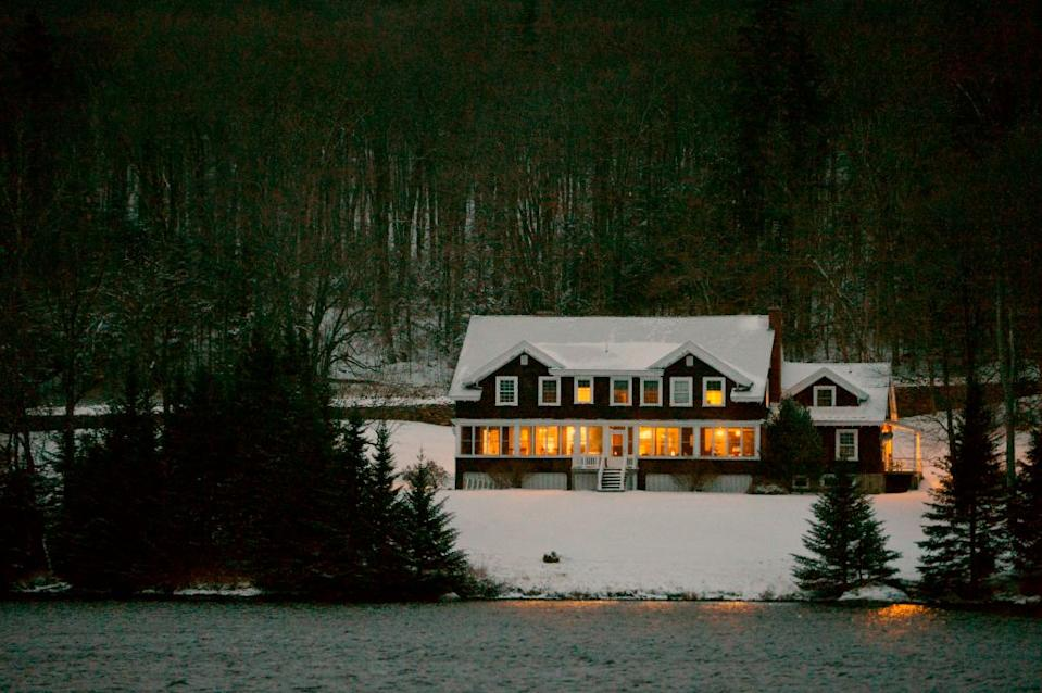 The Hale House at the Balsams resort where midnight voting will take place as part of the first ballots cast in the US Presidential Election, in Dixville Notch, New Hampshire.