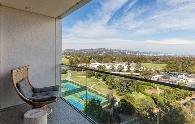 The apartment features sweeping views of LA. Source: Splash