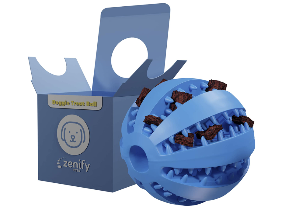 Zenify Puppy Toys Dog Toy Food Treat Interactive Puzzle Ball