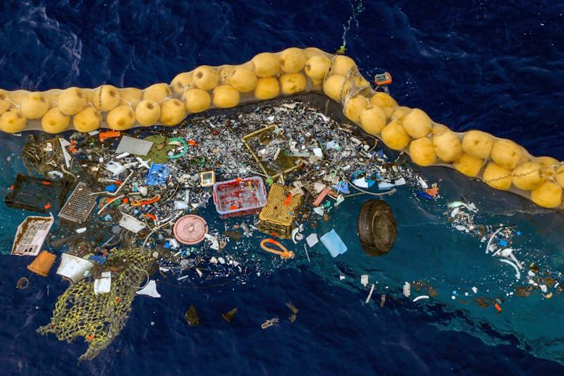 Ocean Cleanup plans to build a fleet of these devices: AP