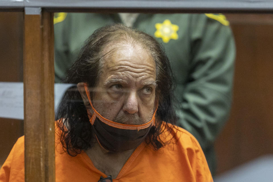 Ron Jeremy appears in court on June 26, 2020 where he pleads not guilty to rape and sexual assault charges.