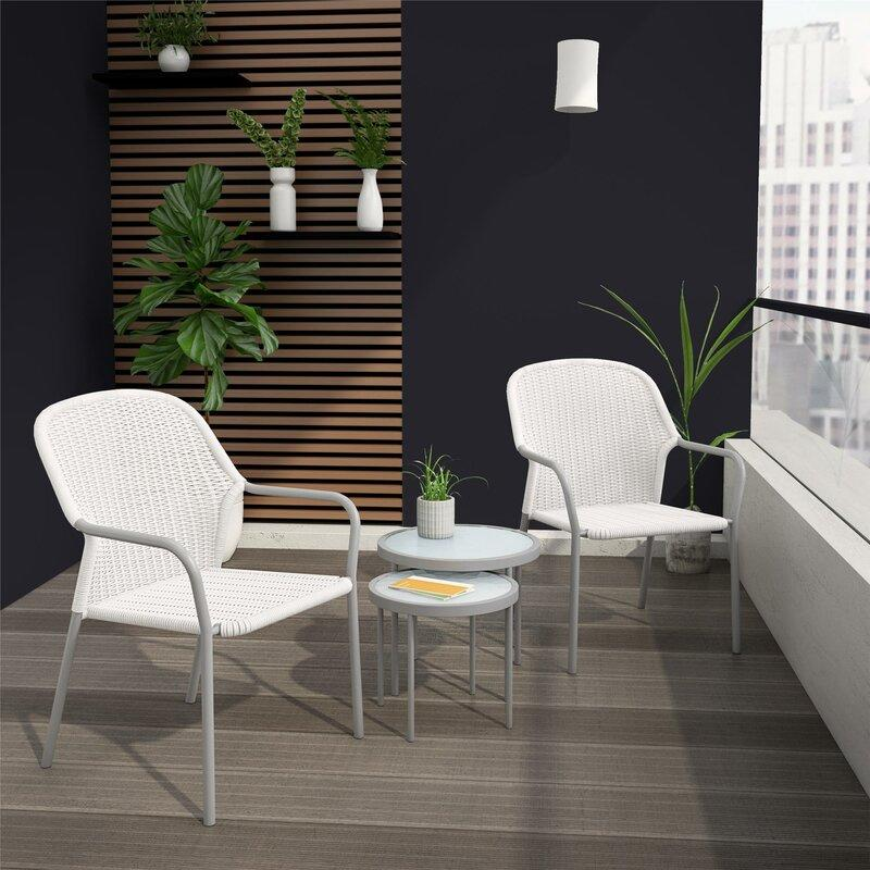 Neesa 4 Piece Rattan Seating Group. Image via Wayfair.