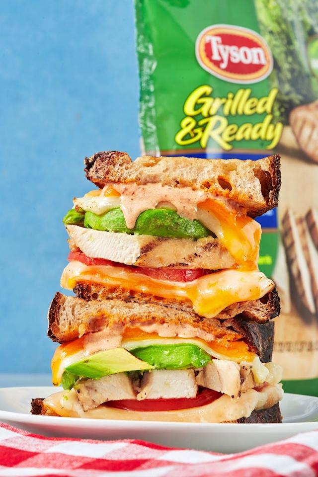 "<p>This is PACKED with flavorful.</p><p>Get the recipe from <a href=""https://www.delish.com/cooking/recipe-ideas/a27546759/chipotle-chicken-grilled-cheese-recipe/"" target=""_blank"">Delish.</a></p>"