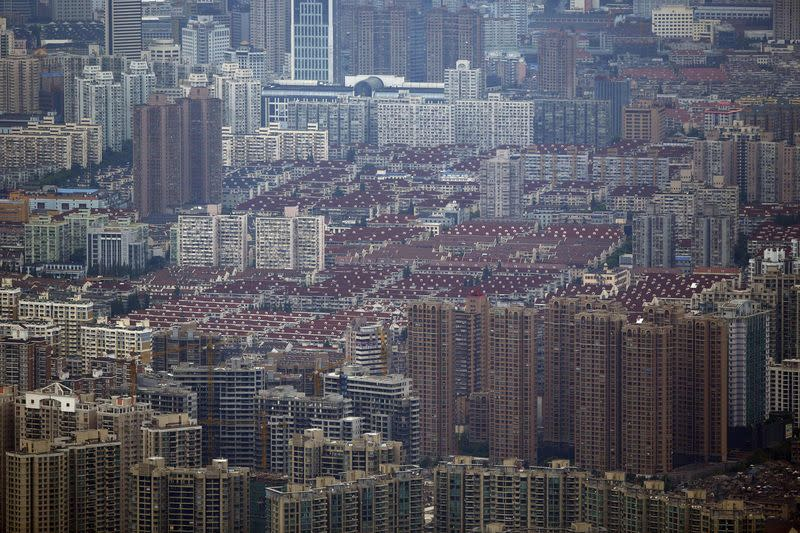 A general view of a residential area in the Puxi district of Shanghai