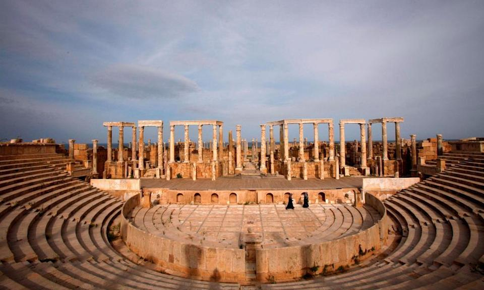 A view of Leptis Magna