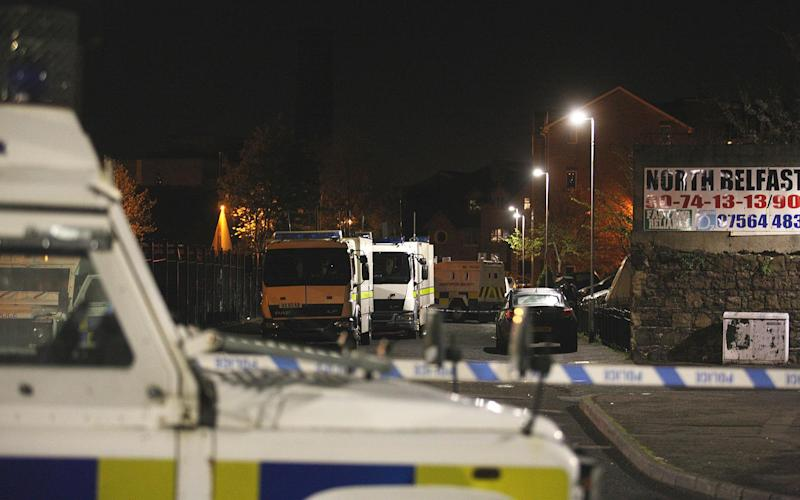 A police cordon where the bomb was found in Belfast: PA