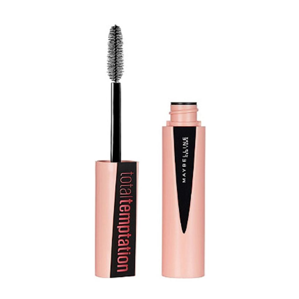 "I didn't think it was possible to love a drugstore mascara so much until Maybelline came out with this new volumizing one. Never has an affordable option packed so much product on a brush without it going on goopy or clumpy. It's <a href=""https://www.glamour.com/story/maybelline-mascara-diorshow-dupe?mbid=synd_yahoo_rss"">the closest dupe I've ever seen</a> to my beloved <a href=""https://www.sephora.com/product/diorshow-mascara-P396240"" rel=""nofollow"">Diorshow</a>. —<em>Lindsay Schallon, senior beauty editor</em> $10, Maybelline Total Temptation Mascara. <a href=""https://www.ulta.com/total-temptation-mascara?productId=xlsImpprod17161553"">Get it now!</a>"