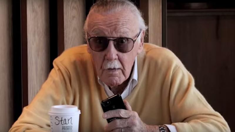 Even Stan Lee is surprised to see Spider-Man in his local coffee shop (credit: Sony)