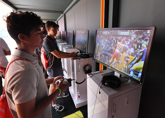 "Gamers will have new NFL options to go with the ""Madden"" franchise. (MARK RALSTON/AFP via Getty Images)"