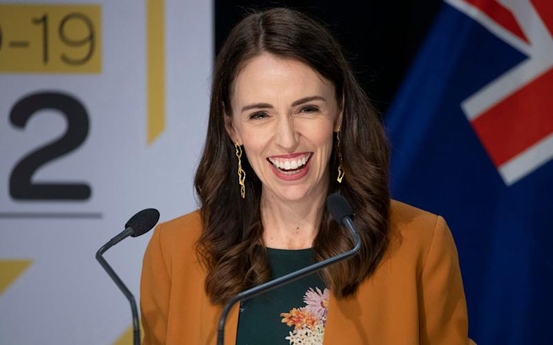 New Zealand prime minister Jacinda Ardern announces a lifting of lockdown - Mark Mitchell/AP