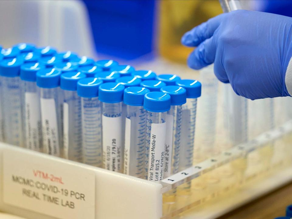 Covid-19 tests at a medical centre in Dallas, where one man hosted a party that infected 14 relatives: REUTERS