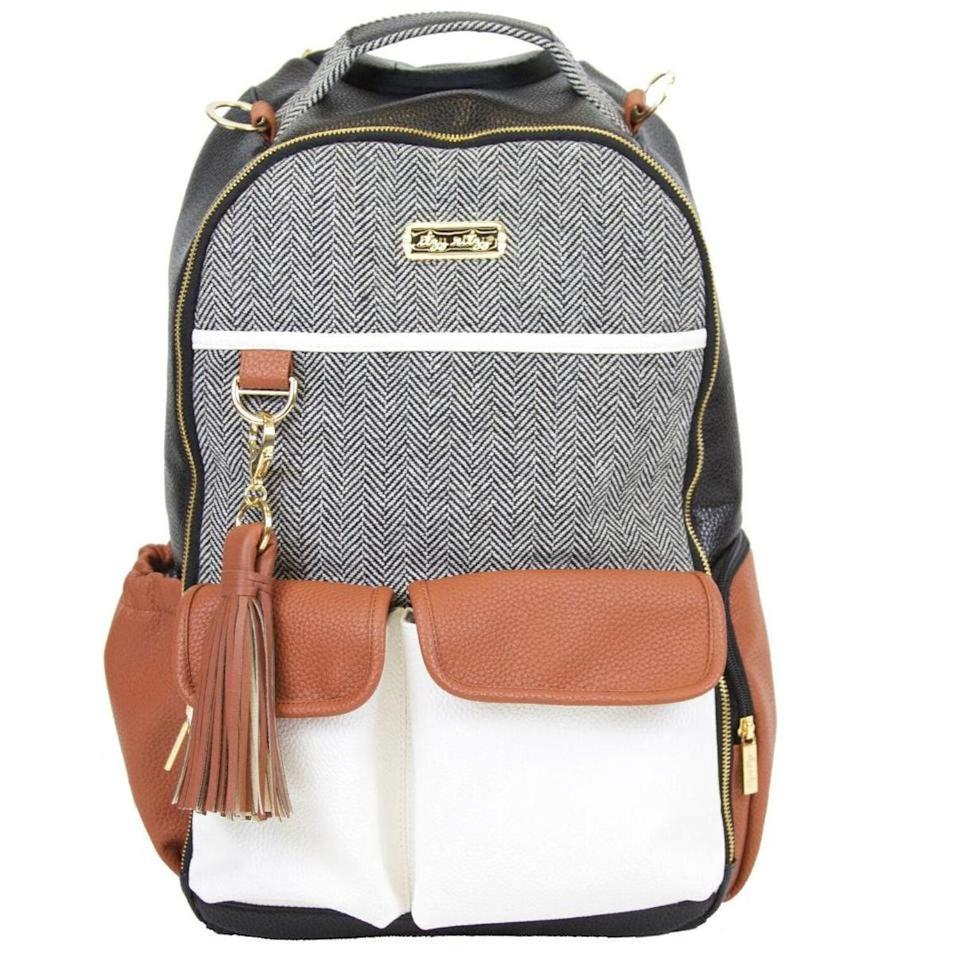 <p>The <span>Infant Itzy Ritzy Diaper Bag Backpack</span> ($150) has a faux leather trim for easy clean-up, but the real draw is that it comes with 17 pockets!</p>
