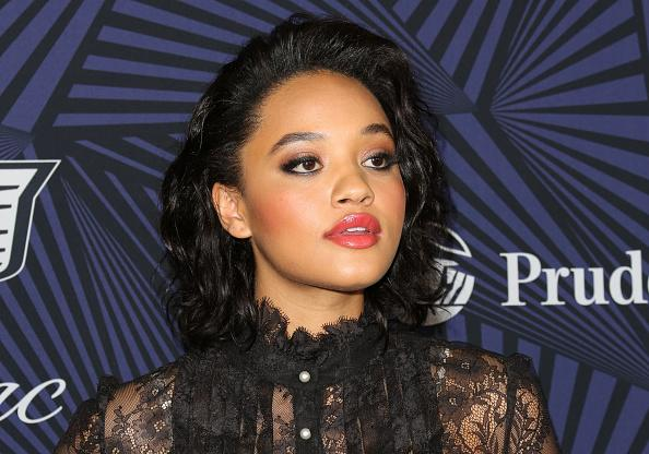 Kiersey clemons sheer dress is a serious red carpet statement for A jason clemons salon