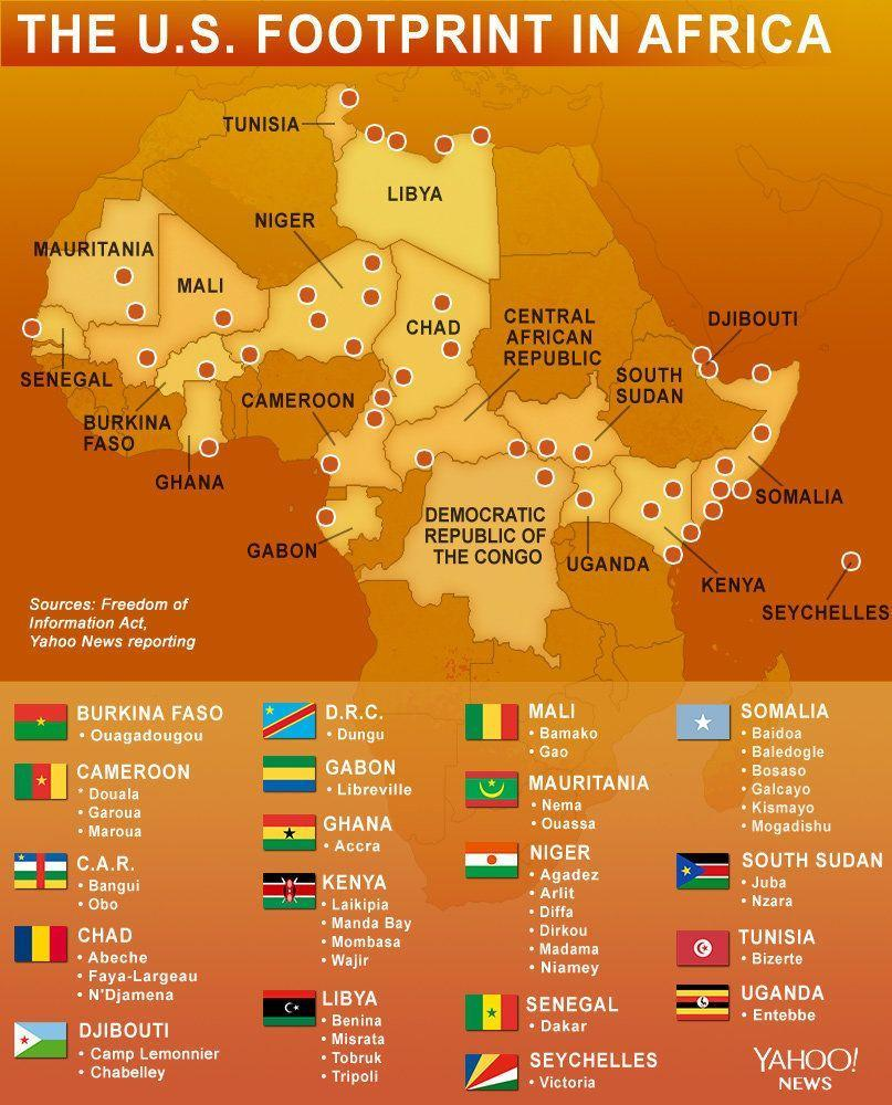Revealed: The U S  military's 36 code-named operations in Africa
